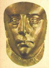 西元3世纪乌克兰咳峙的斯基泰王后面具